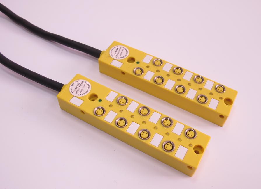 M8  I/O总线分线盒  PNP  NPN  直接出线式