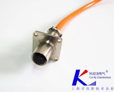 M12 6芯连接器ABDX扣