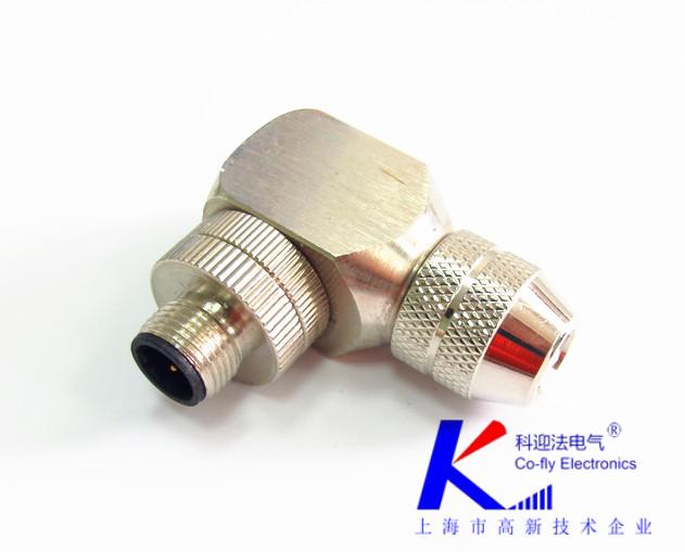 M12连接器A扣压接连接器