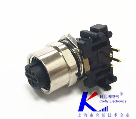 M12连接器的针插或插孔