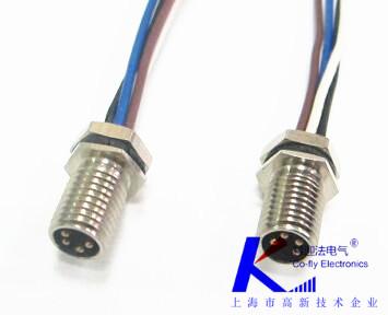 M8防水连接器焊线式
