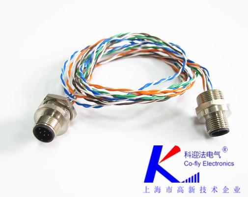 M12带线电缆连接器