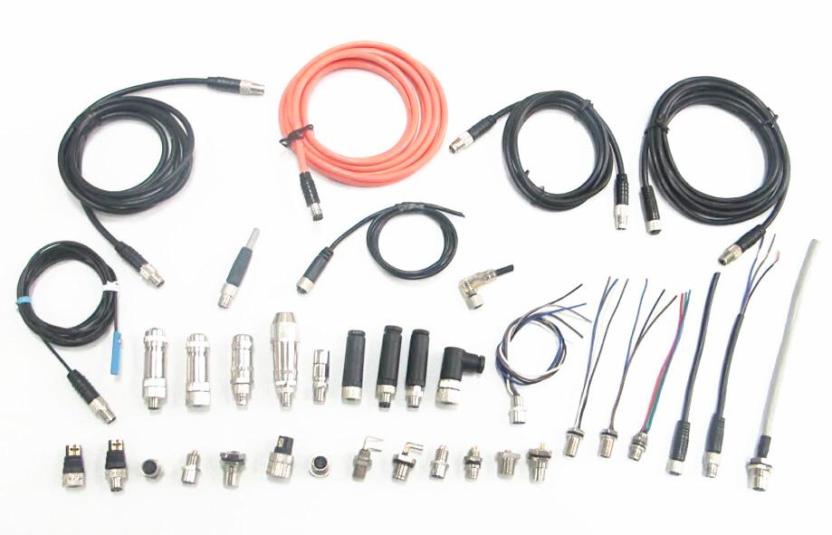 M12板端插座焊接连接器厂家